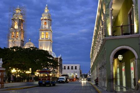 Iglesia de la ciudad de Campeche, en la Península de Yucatán