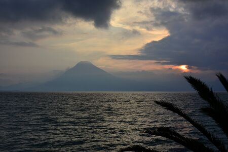 Corners of the town of Panajachel, on the coast of Lake Atitlan, in Guatemala Foto de archivo