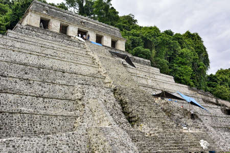Landscapes and locations of the Mayan ruins of Palenque, in the state of Chiapas, in the southeast of Mexico