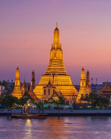Wat Arun Temple of dawn in Bangkok Thailand after restoration, 2018