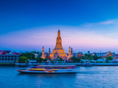 Wat Arun Temple of dawn in Bangkok Thailand after restoration