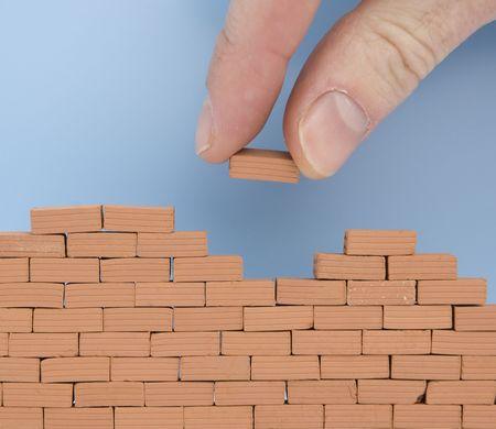 een andere steen op de muur