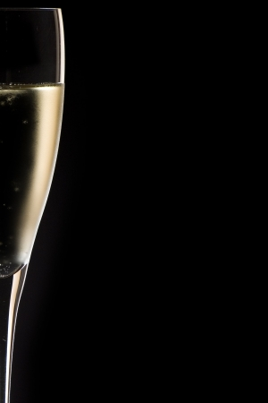 luxury party: champagne glass close up Stock Photo