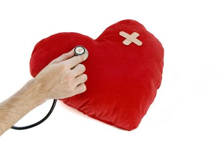 hypotension: sick heart Stock Photo