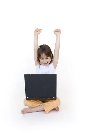 girl having fun with internet Stock Photo - 7769970