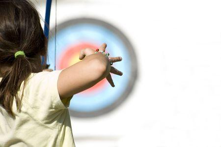 Teenage girl archer