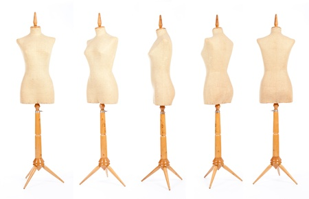 made to measure: tailor mannequins isolated on white  Stock Photo