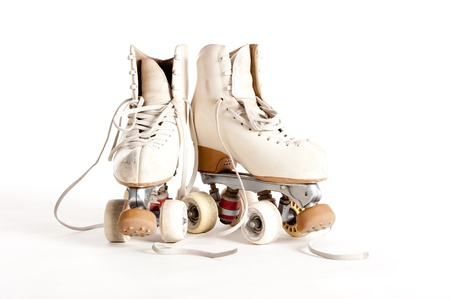 two wheel: rollin skates isolated on white background
