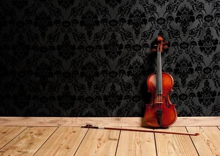 violino classico nel vintage background