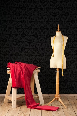 ladies bust: Tailor mannequin with tape measure