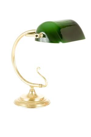 ancient desk lamp photo
