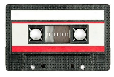 retro cassette tape isolated on white background photo