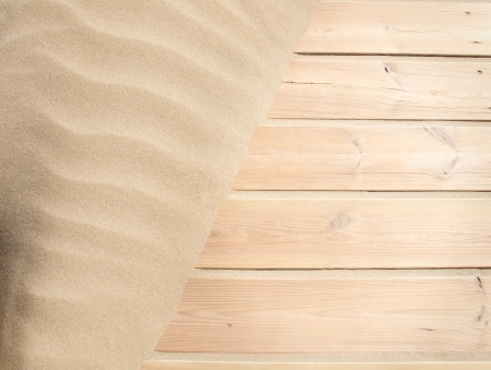 wood and sand background photo