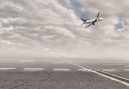 airplane at the airport