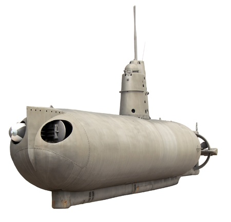 submarine isolated on white