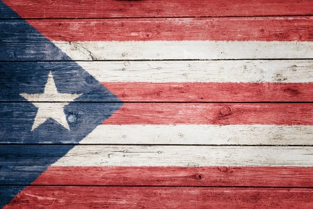 puerto rican flag: puerto rican flag on wood texture background