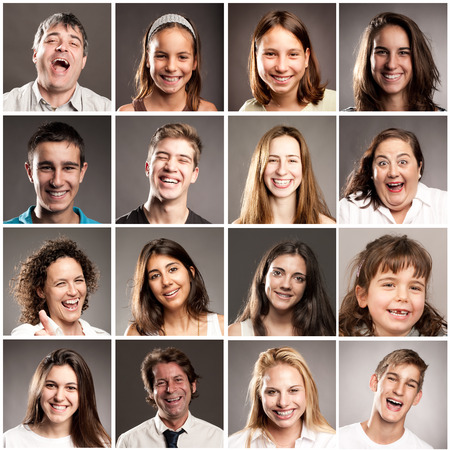 portraits of people with happy expression photo