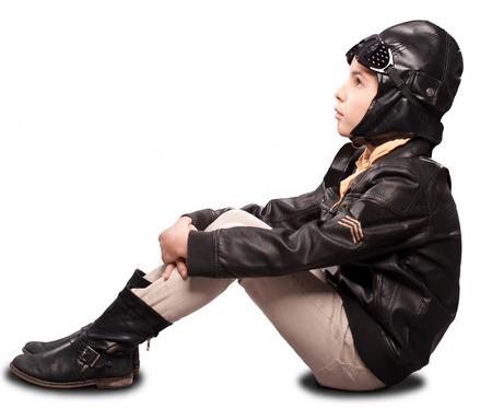 aviator: little aviator on white background
