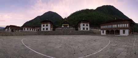 Lhakhang Karpo, the white temple from haa valley in bhutan