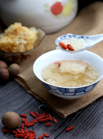 White fungus soup Stock Photo