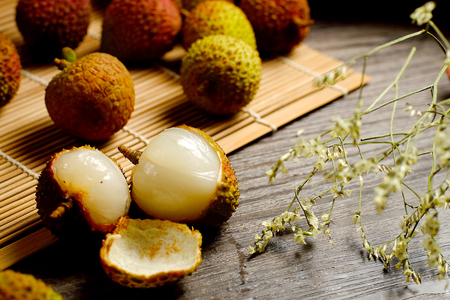 fruitage: Close up to lychee Stock Photo