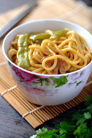mian: fried noodles Stock Photo