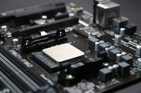 Installed in the motherboard of the computer's central processing unit CPU Imagens - 52654670
