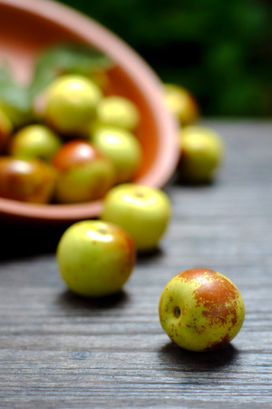 jujube: Winter jujube Stock Photo