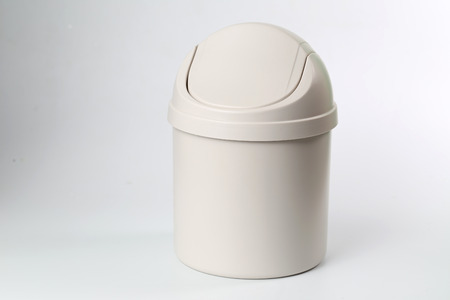 waste products: In front of a white background the trash
