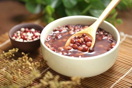 Red beans and barley porridge 스톡 콘텐츠