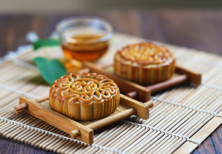 Mid Autumn Festival moon cake Stock Photo
