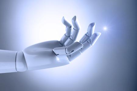 main d'intelligence artificielle