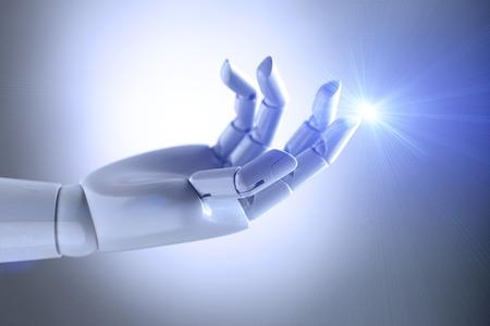 artificial de la mano de inteligencia Foto de archivo