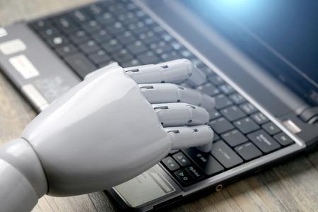 키보드의 인공 지능 손 유형