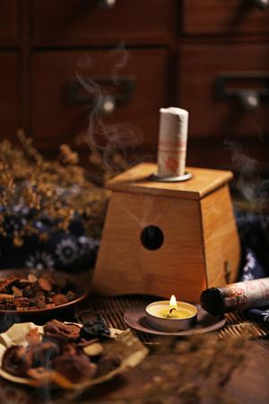 longevity medicine: Moxibustion Chinese medicine