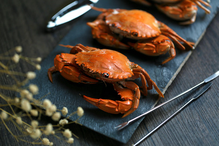 steamed: steamed crabs