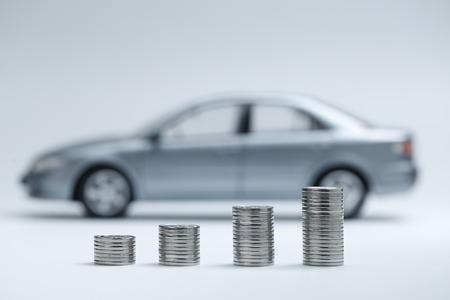 muntstukstapels voor auto