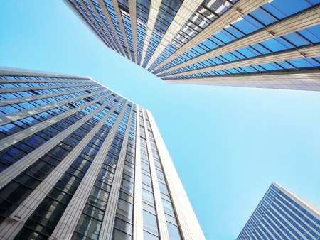 modern city office building exterior wall Stock Photo