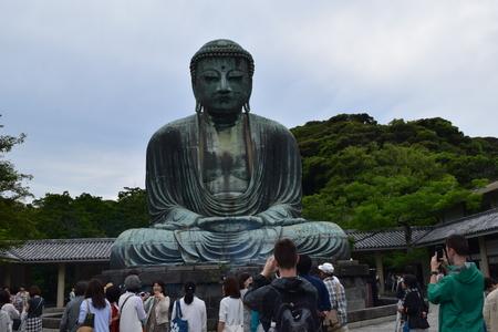 kamakura: Giant Buddha statue in Kamakura