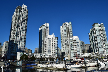 False Creek marina in Yaletown - Downtown Vancouver