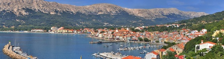 Croatian pearl, Baska - located in the island of KRK, with one of the most beautiful beaches in Croatia Stock Photo
