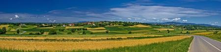 Erdovec village panorama in springtime, colorful, Croatia Stock Photo - 10312099