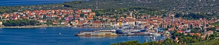 beautiful Town of Cres, Island of Cres, Croatia - panoramic wide view