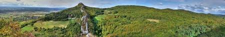 Panoramic view on Kalnik mountain ridge, Croatia