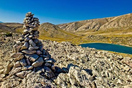 Stone & Sea desert in Mala luka bay, Island of Krk, Croatia photo