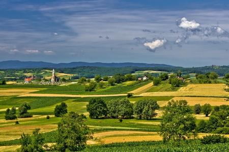 Church on the beautiful hill in springtime, Erdovec village, croatia Stock Photo - 10388677