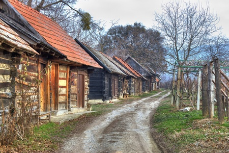 kalnik: Ilica - famous traditional wine road with cottagres in Kalnik mountain region, Croatia