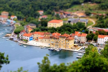 Town of Bakar miniature, tilt shif - Kvarner, Croatia