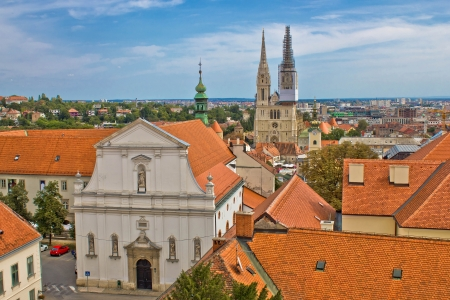 Historic upper town of Zagreb - capital of Croatia Stock Photo