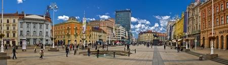 central square: Croatian Capital Zagreb main  Editorial